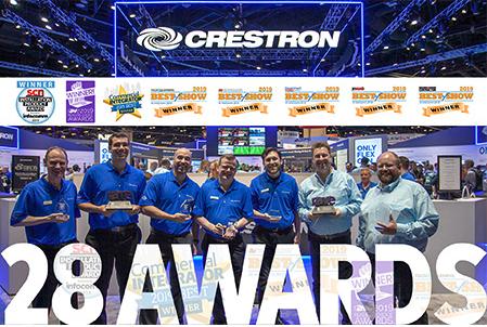 Crestron gana 28 premios de la industria en InfoComm® 2019