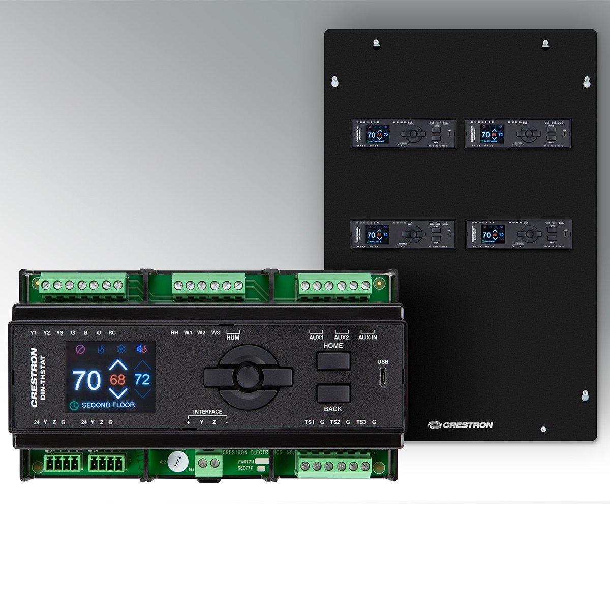 Los nuevos controles de clima DIN-RAIL de Crestron facilitan las instalaciones profesionales limpias.
