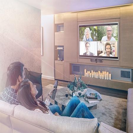 Crestron HomeTime, la videoconferencia en casa