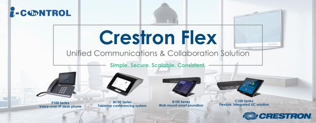 Las soluciones de comunicaciones unificadas y de colaboración de Crestron Flex son indispensables en estos tiempos de confinamiento