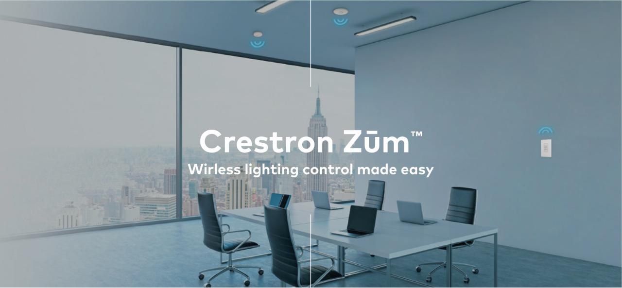 Crestron actualiza Zūm, control inalámbrico de iluminación para espacios comerciales.