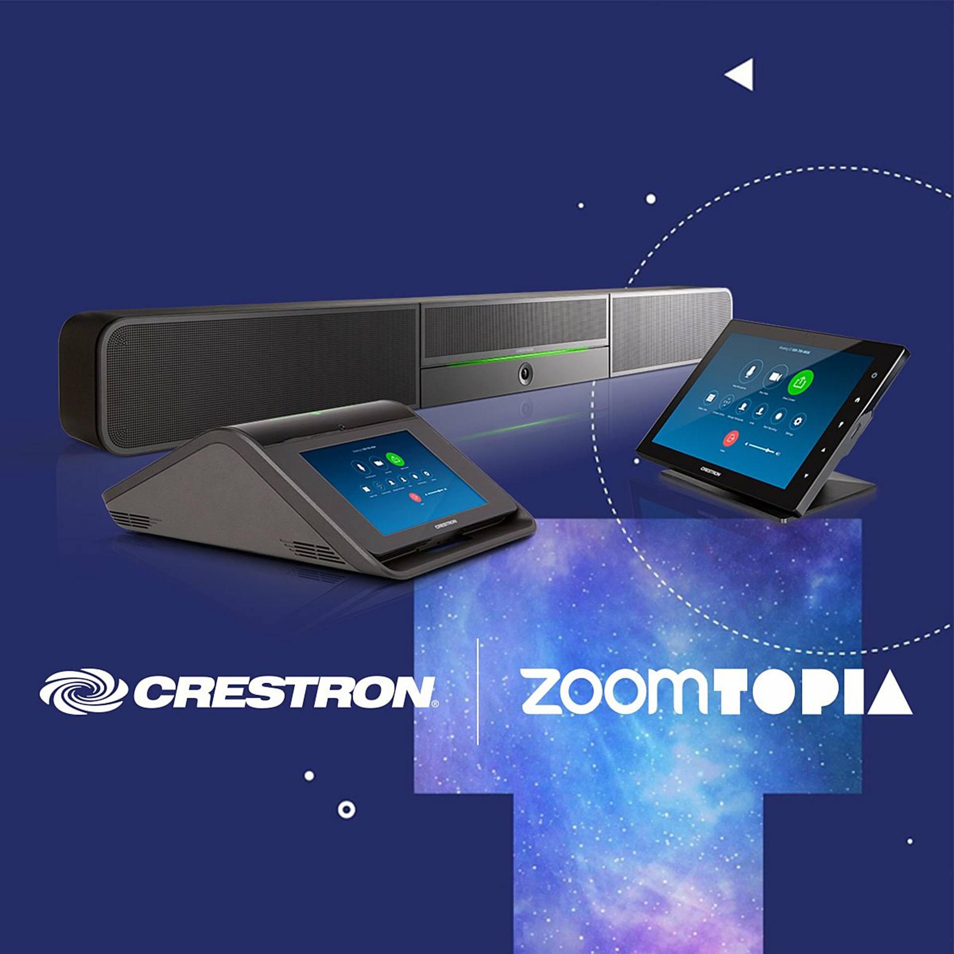 Crestron Flex, la sensación en la conferencia mundial Zoomtopia 2019